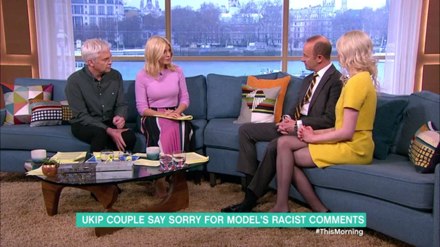 Jo Marney told Phillip Schofield she was not 'a private racist'