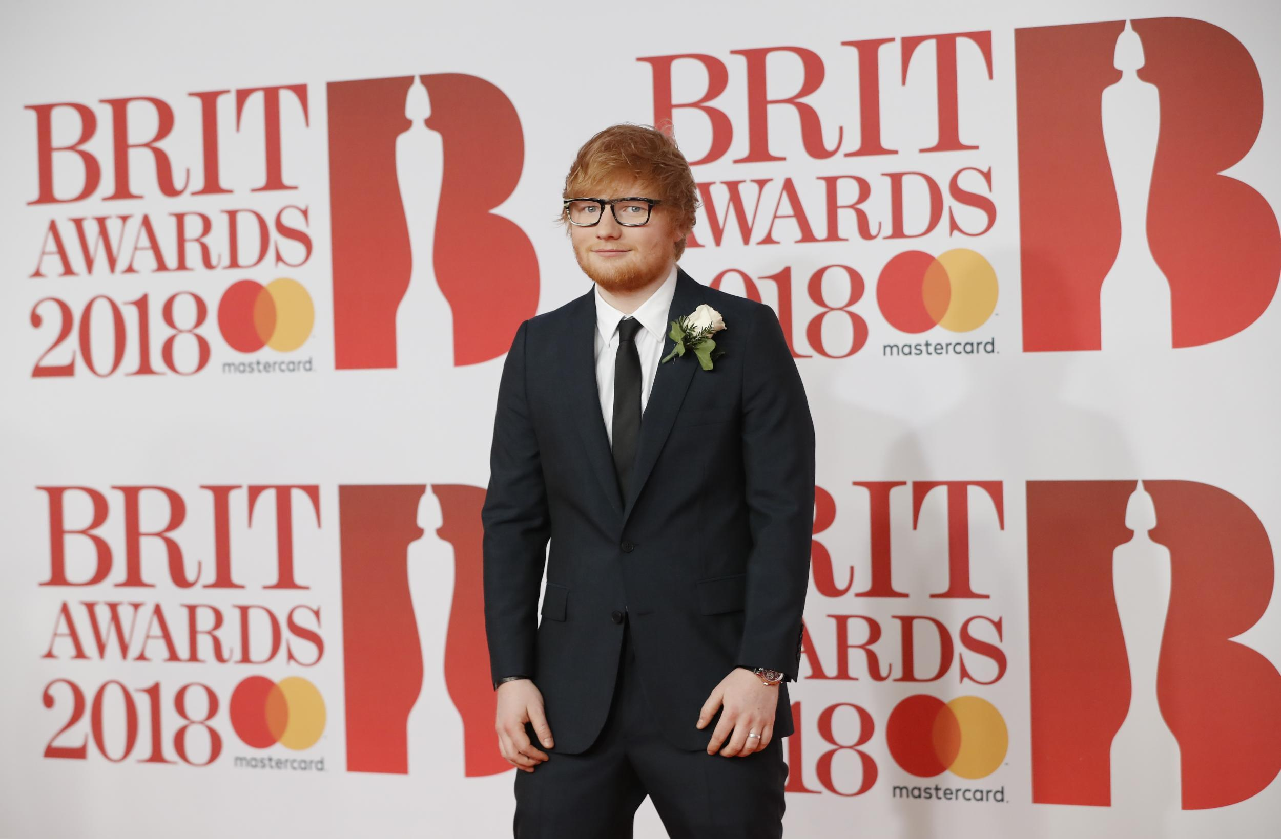Ed Sheeran and his fiancee both wear an engagement ring