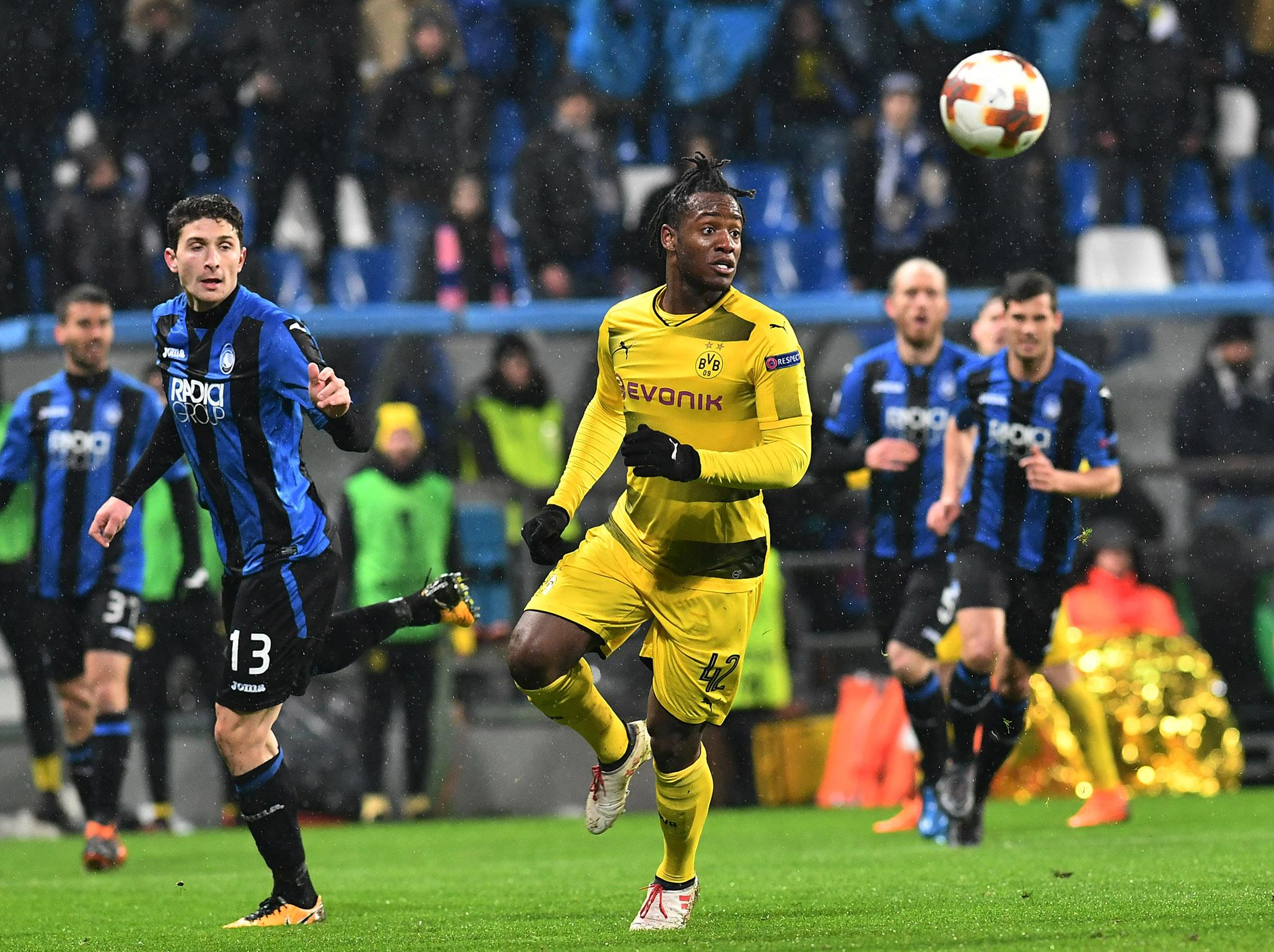 Dortmund's Michy Batshuayi claims he was subjected to 'monkey noises' from Atalanta fans in Europa League draw