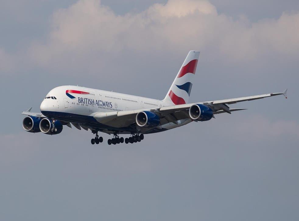 Flying high: a British Airways Airbus A380 near Heathrow