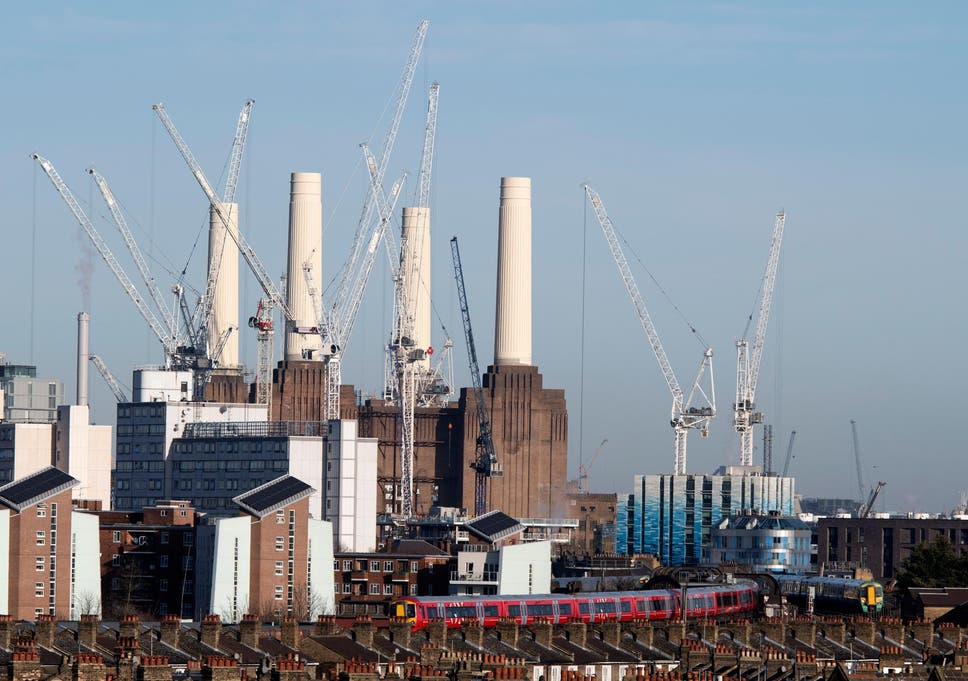 Construction Work Continues On The Battersea Power Station Residential  Development Complex In South West London
