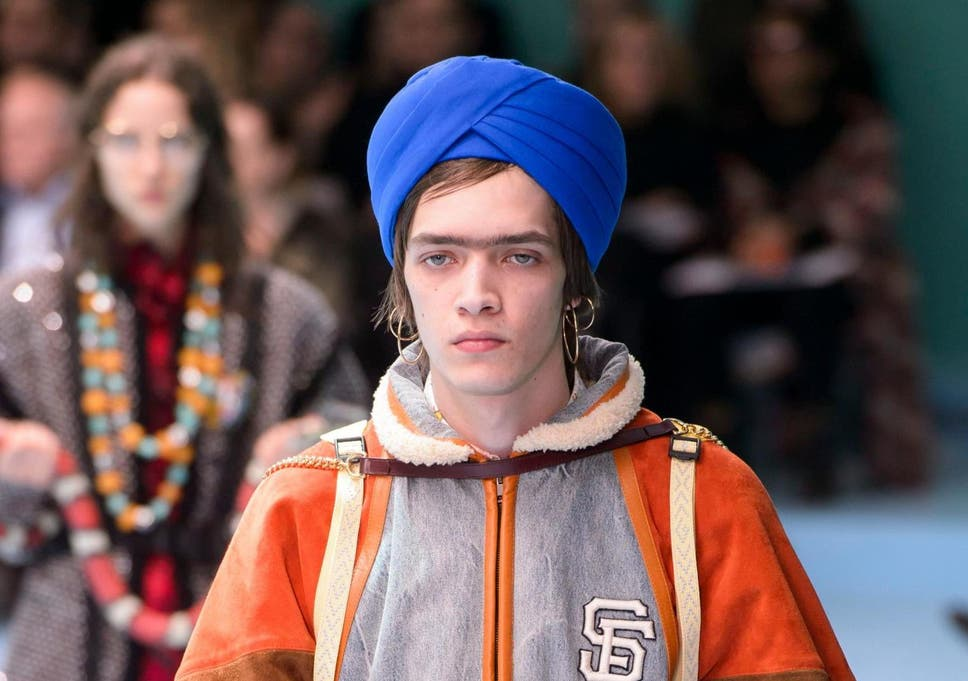 4ffd0962b74 Gucci criticised for putting turbans on white models.