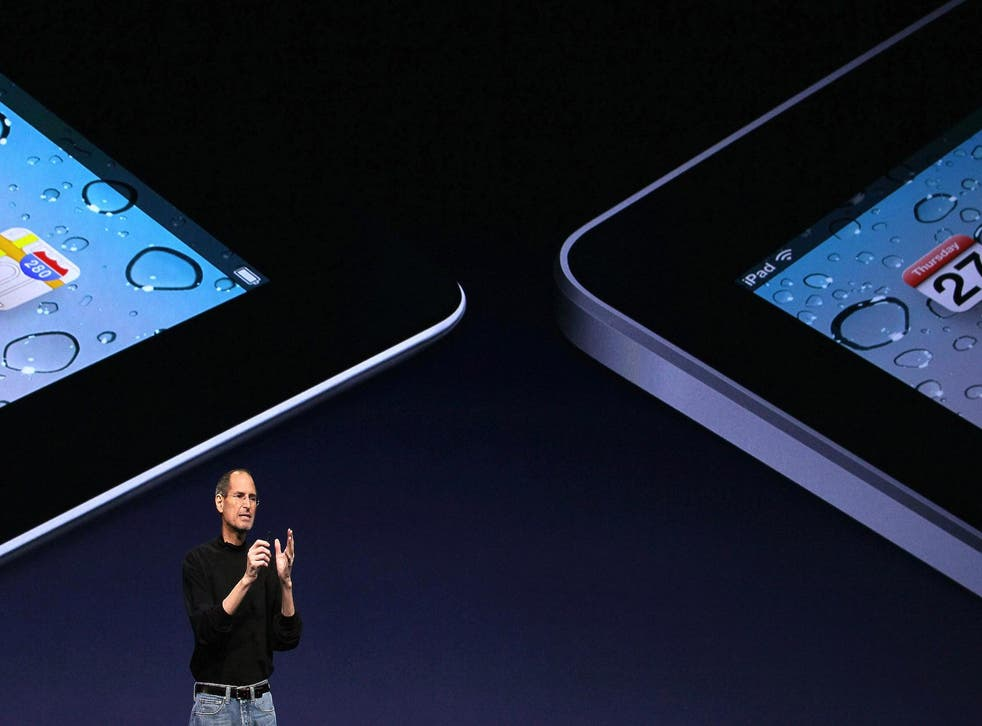 Apple CEO Steve Jobs announces the new iPad 2 during an Apple Special event on March 2, 2011 in San Francisco, California
