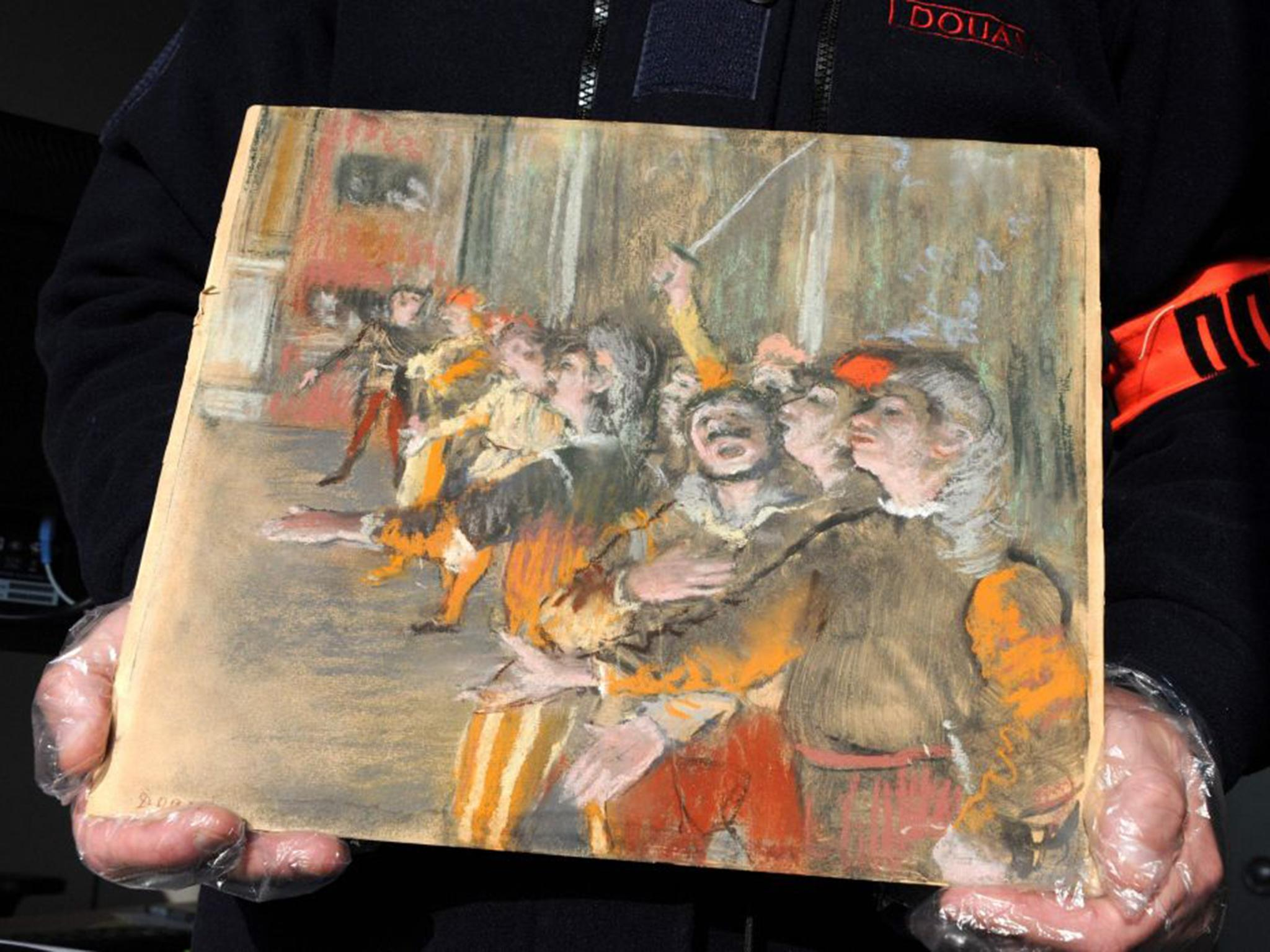 Stolen edgar degas painting worth £700000 found on a bus