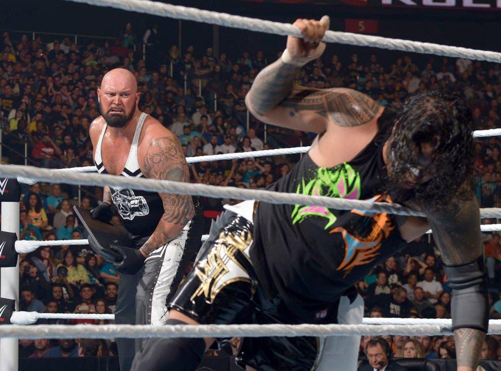 WWE star Luke Gallows in action