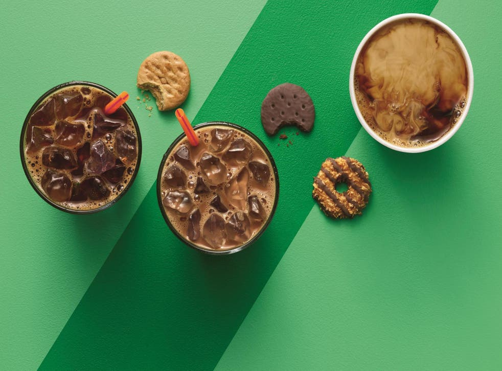 Dunkin' Donuts made Girl Scout Cookie-inspired coffee (Dunkin' Donuts)