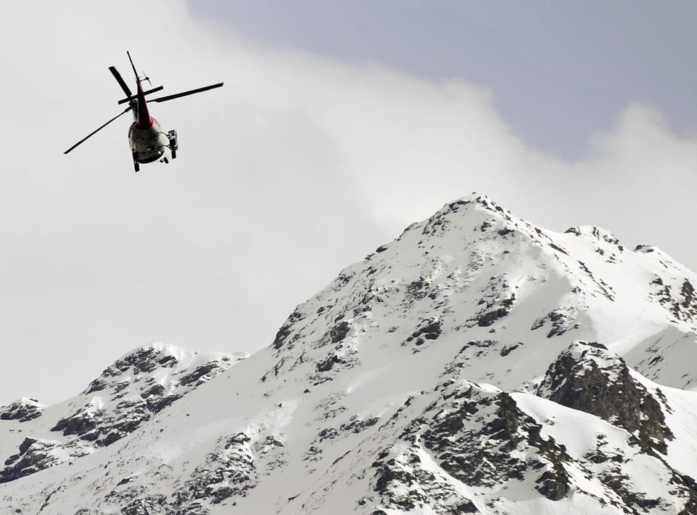 Four skiers were involved in the incident and all were recovered by helicopter