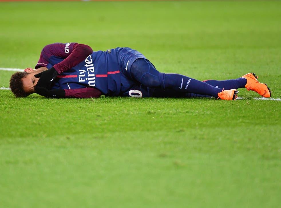 Neymar was stretchered off