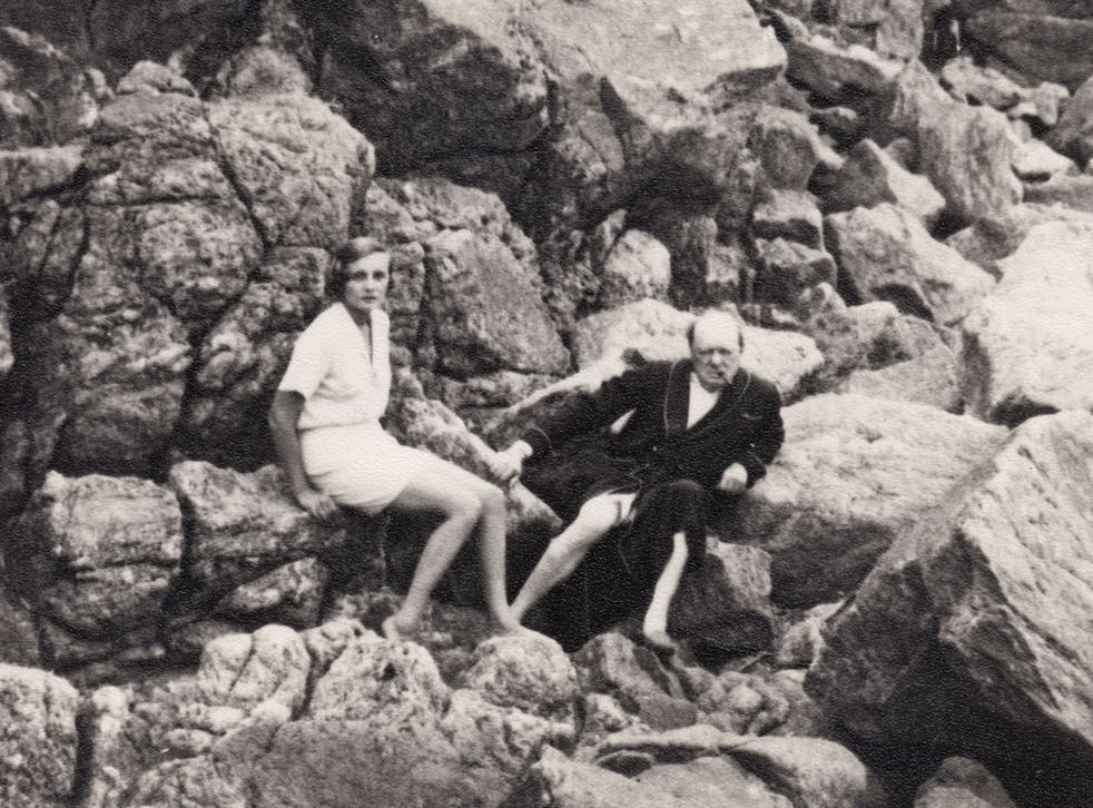 Winston Churchill with Cara Delevingne's great aunt Lady Doris Castlerosse on the French Riviera in the mid-1930s