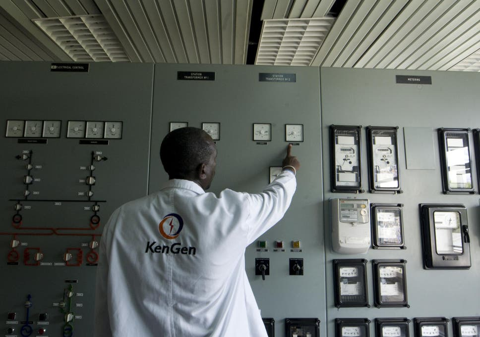 An engineer at the state-run Kenya Generating Company hydro-electricity dam control room at Masinga. Some African governments – Kenya in particular – have embraced policies aimed at bolstering future energy security