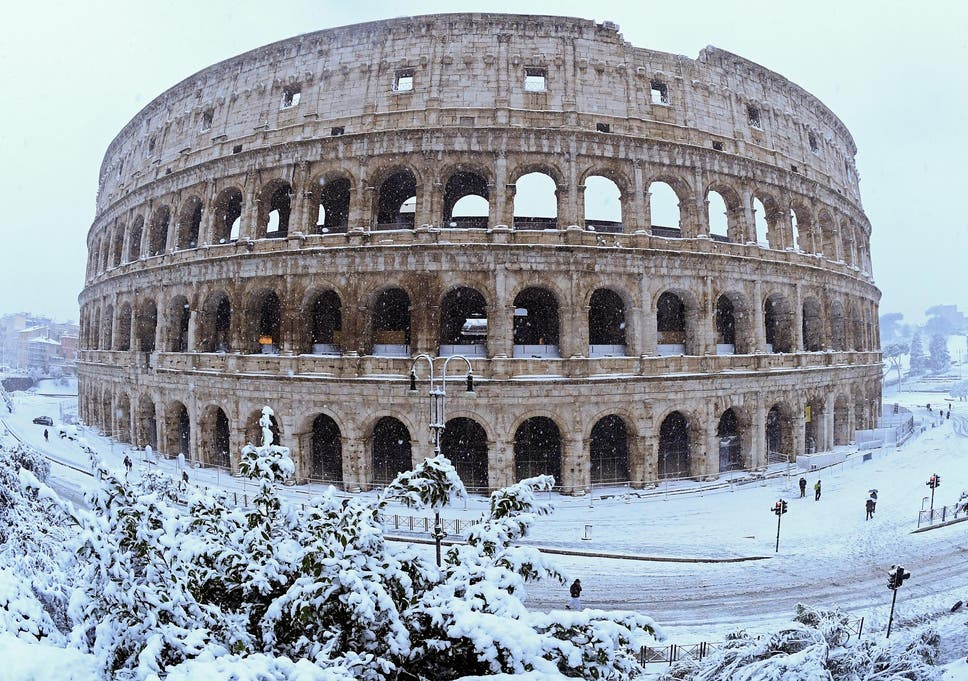 snow in rome causes italian soldiers to be deployed to capital s