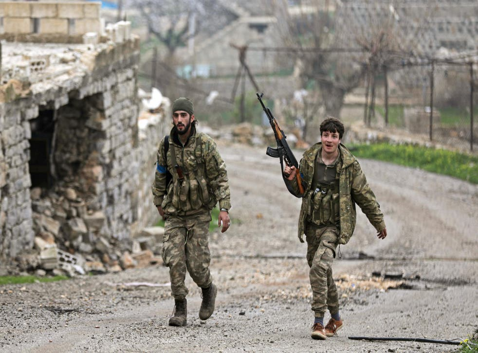 Free Syrian Army fighters near Afrin are being backed by a fresh influx of Turkish troops