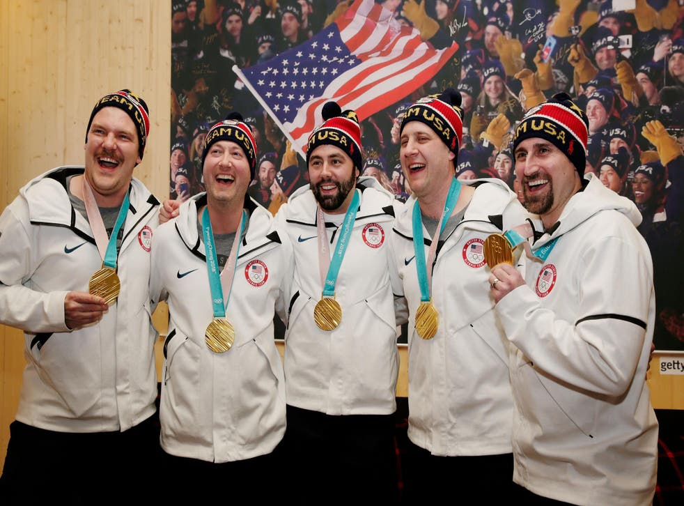 The USA Curling team after winning gold (Getty)