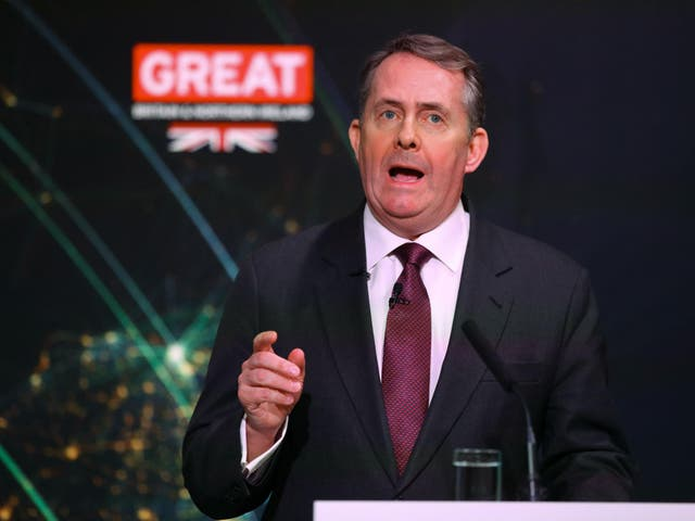 Liam Fox helped launch the IFT, the group organising the talks