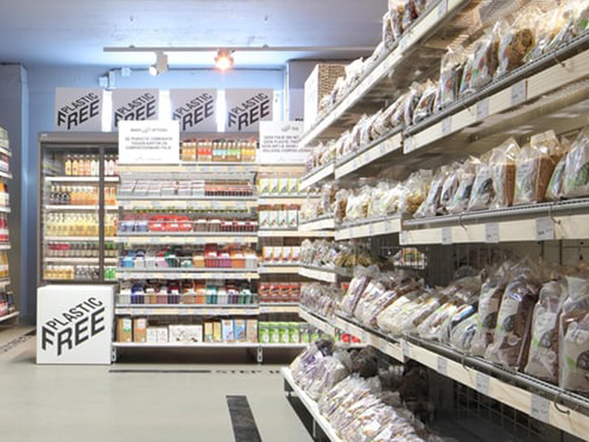 Netherlands opens world's first plastic-free supermarket aisle as UK