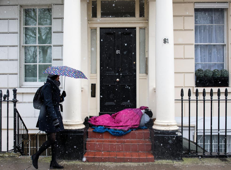 A total of 3,103 people were found sleeping rough in the city between July and September 2018 – the first time levels have risen to over 3,000 in a single quarter