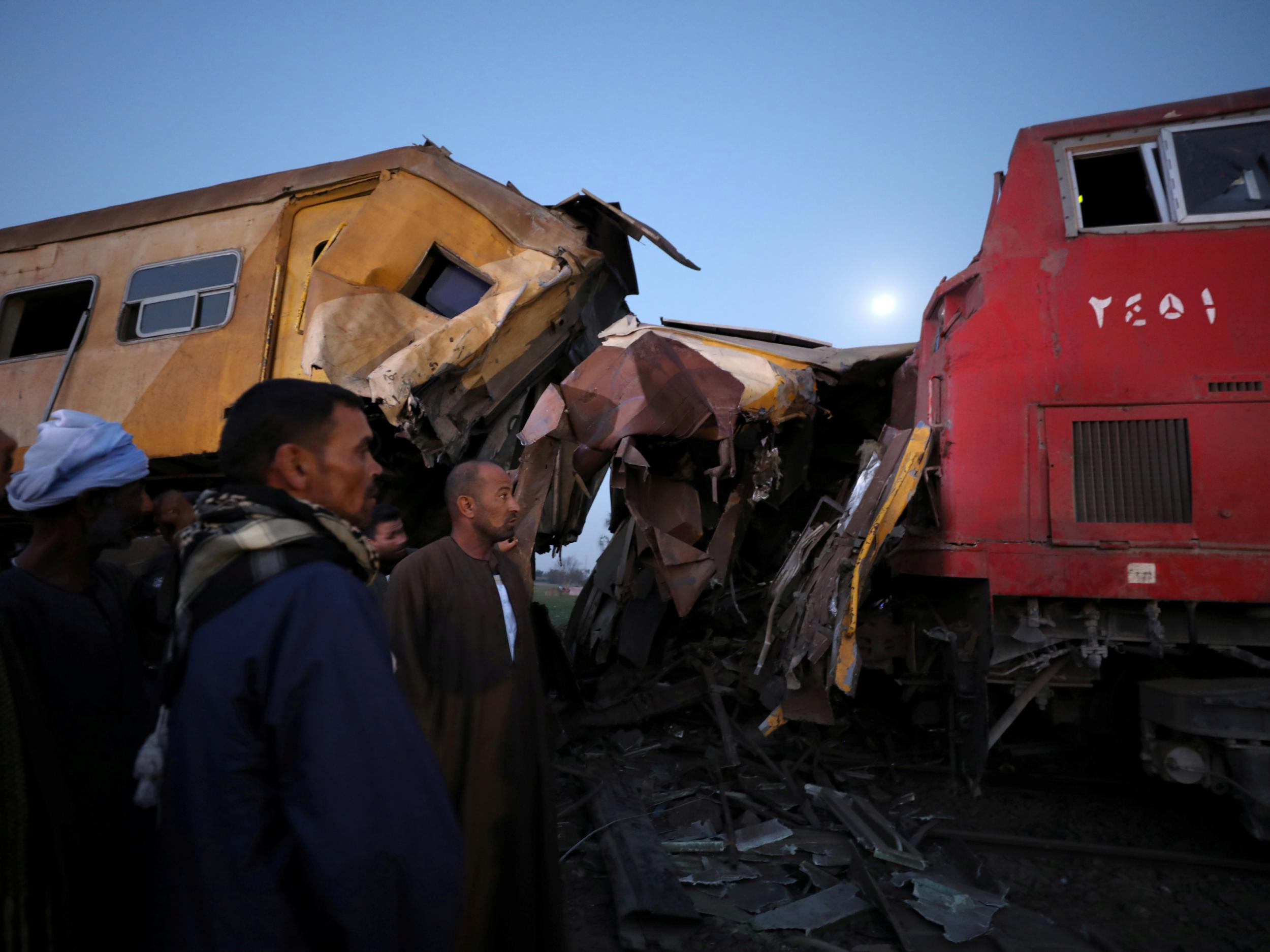 Egypt train crash: At least 15 killed and 40 injured after head on collision north of Cairo