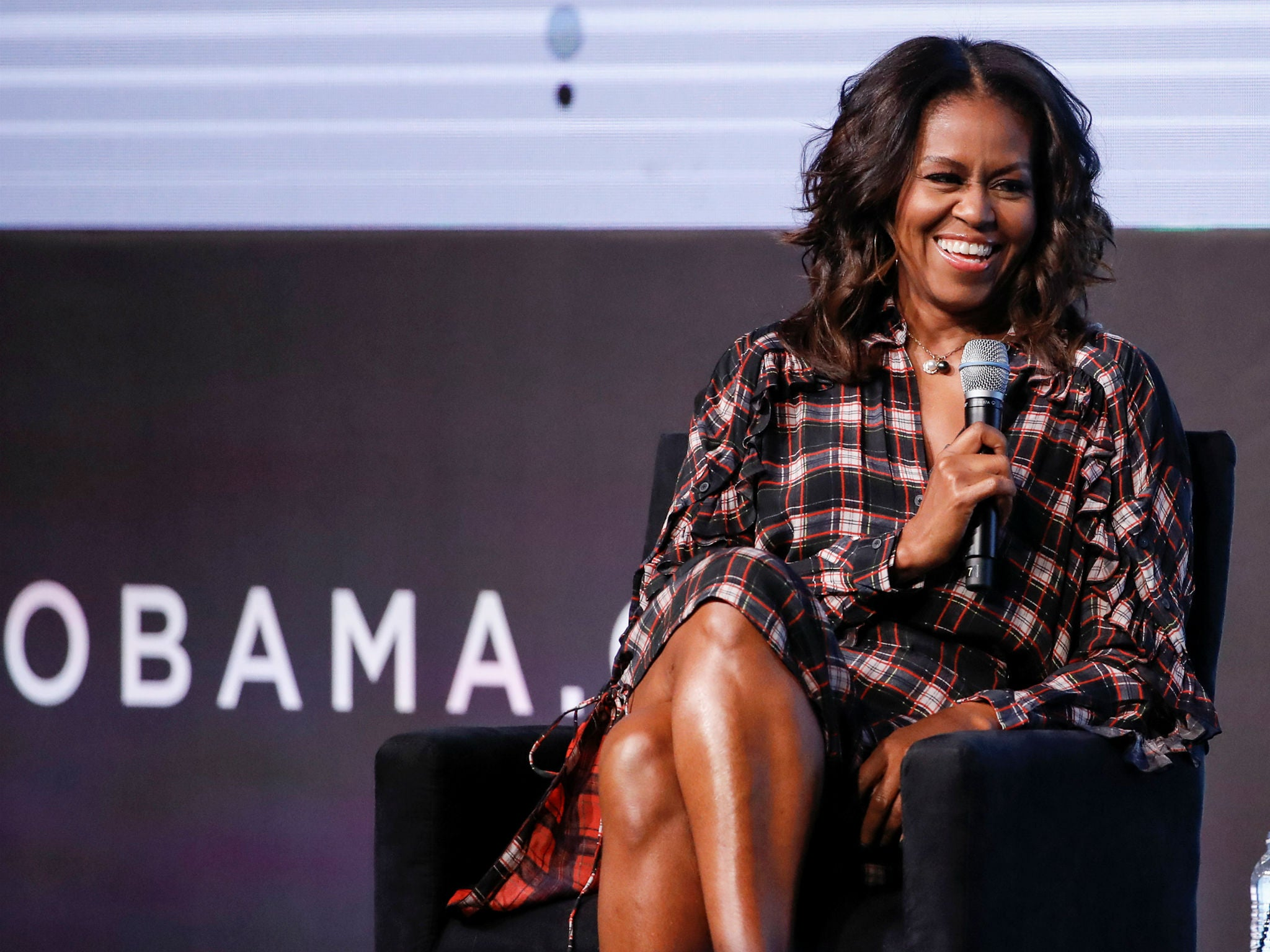 Michelle Obama says she uses social media 'like a grown-up' in apparent Trump reference