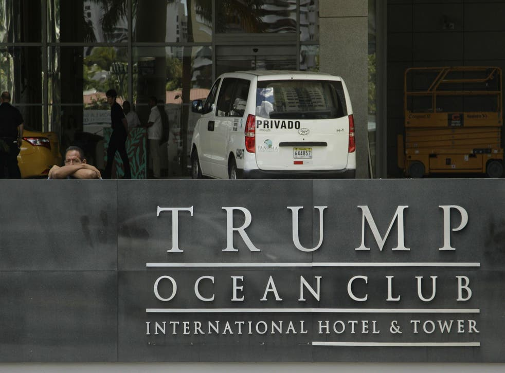 Mr Trump's hotel claims to be the only ocean front luxury property in the city