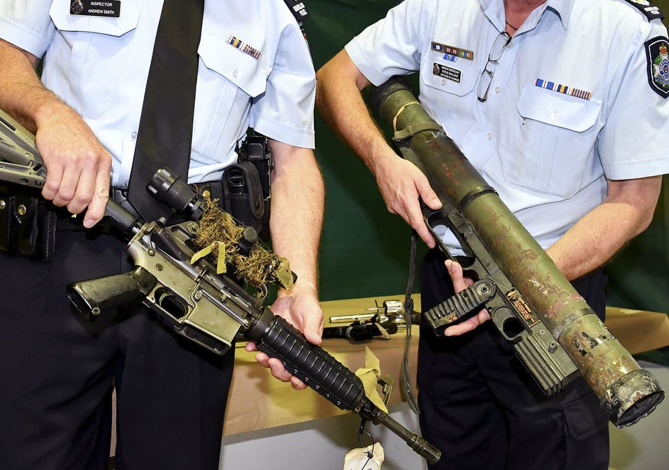 Rocket launcher among 57,000 illegal firearms handed in