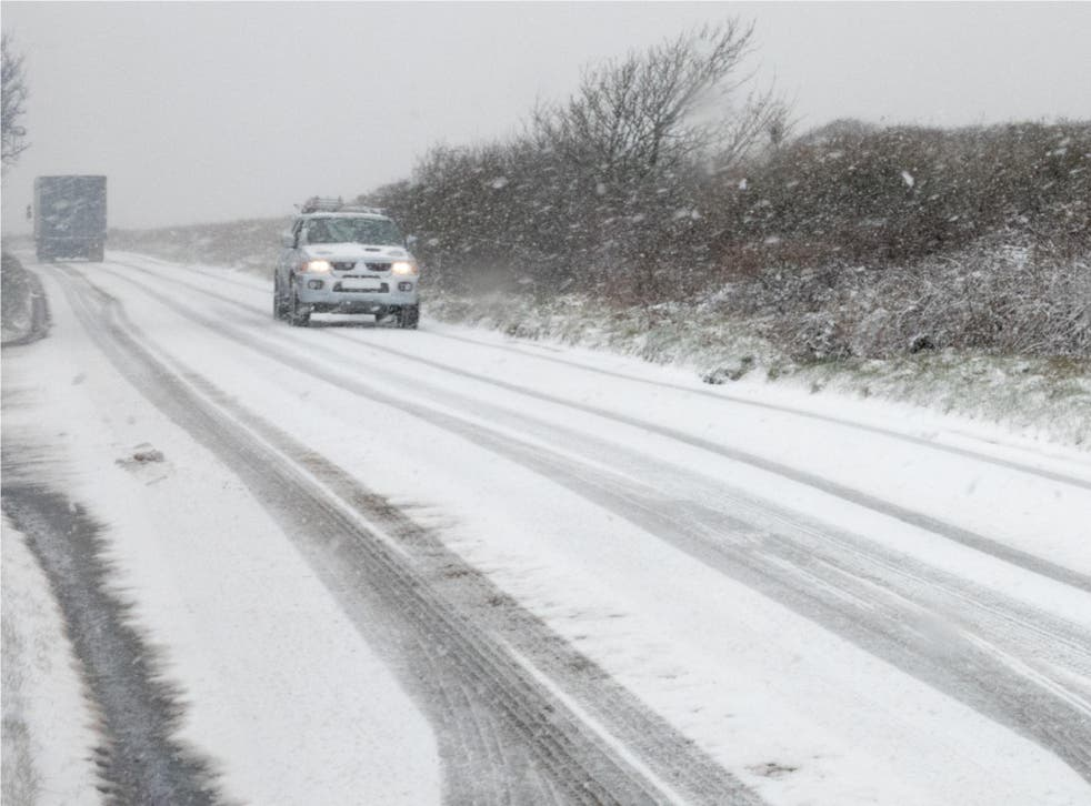 Cornwall has been hit with heavy snow