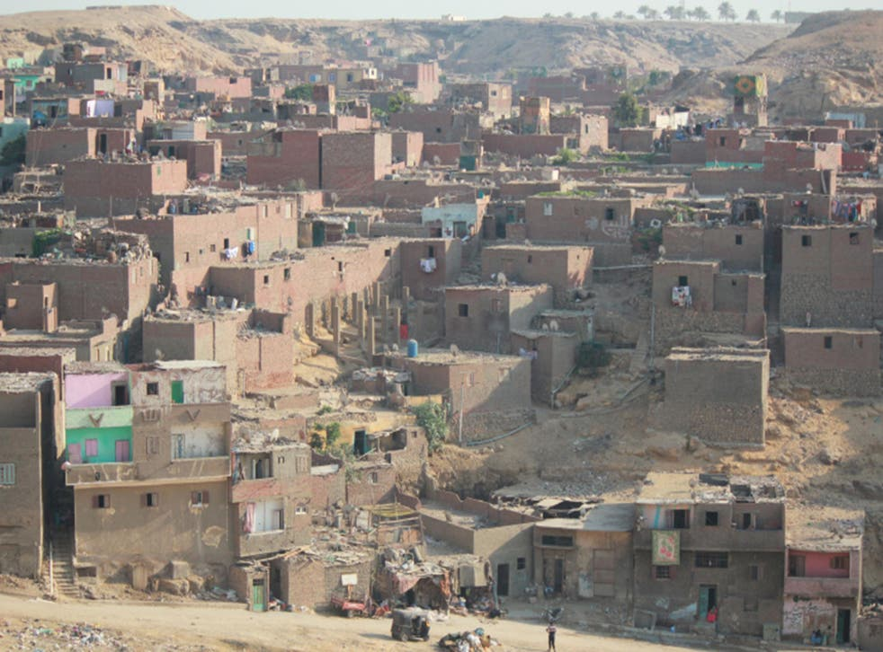 Al Doweqa, in the slum settlement of Manshiyat Naser. Many of its dwellings are inadequately built, and collapses are commonplace