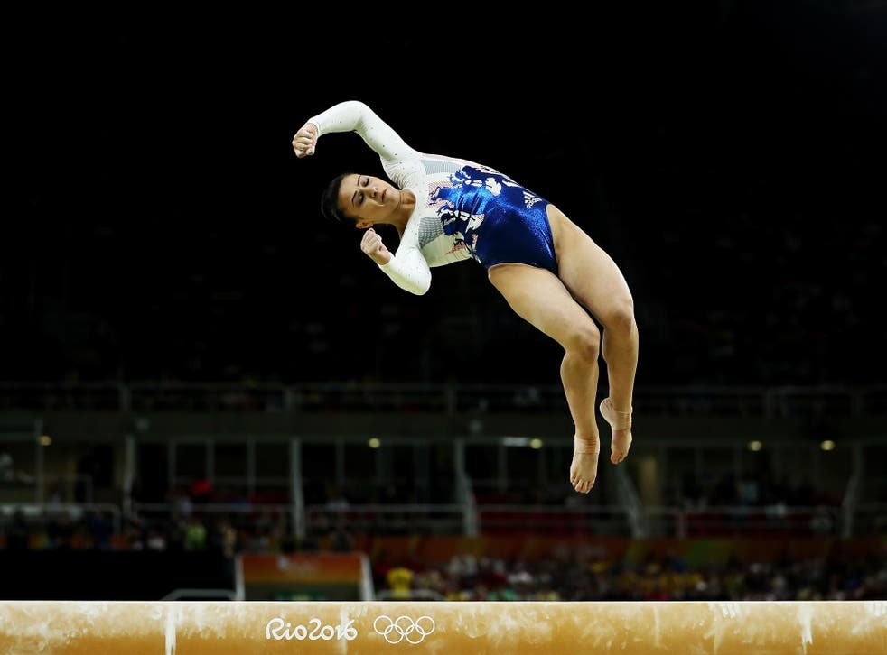 Claudia Fragapane competing at the Rio Olympics