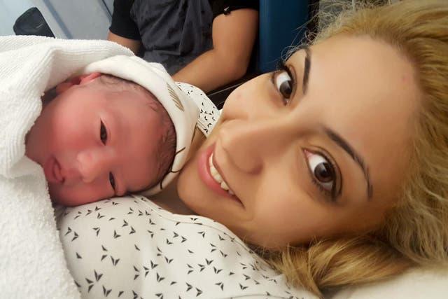Rafaela Lamprou sells her breast milk to men online (Caters News Agency)