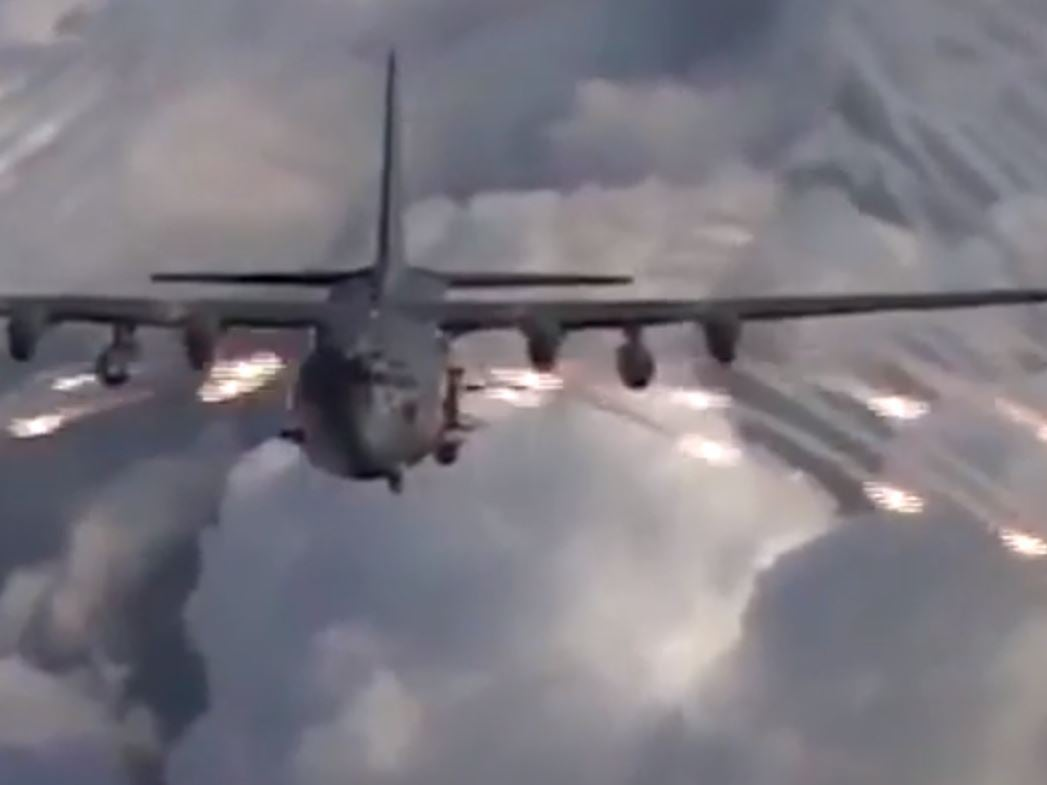 Angel Of Death Video Of Us Gunship Unleashing Anti Missile