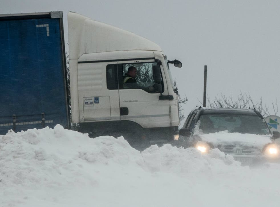 Lorries and cars being stuck in snow has been slowing down business turnover and growth