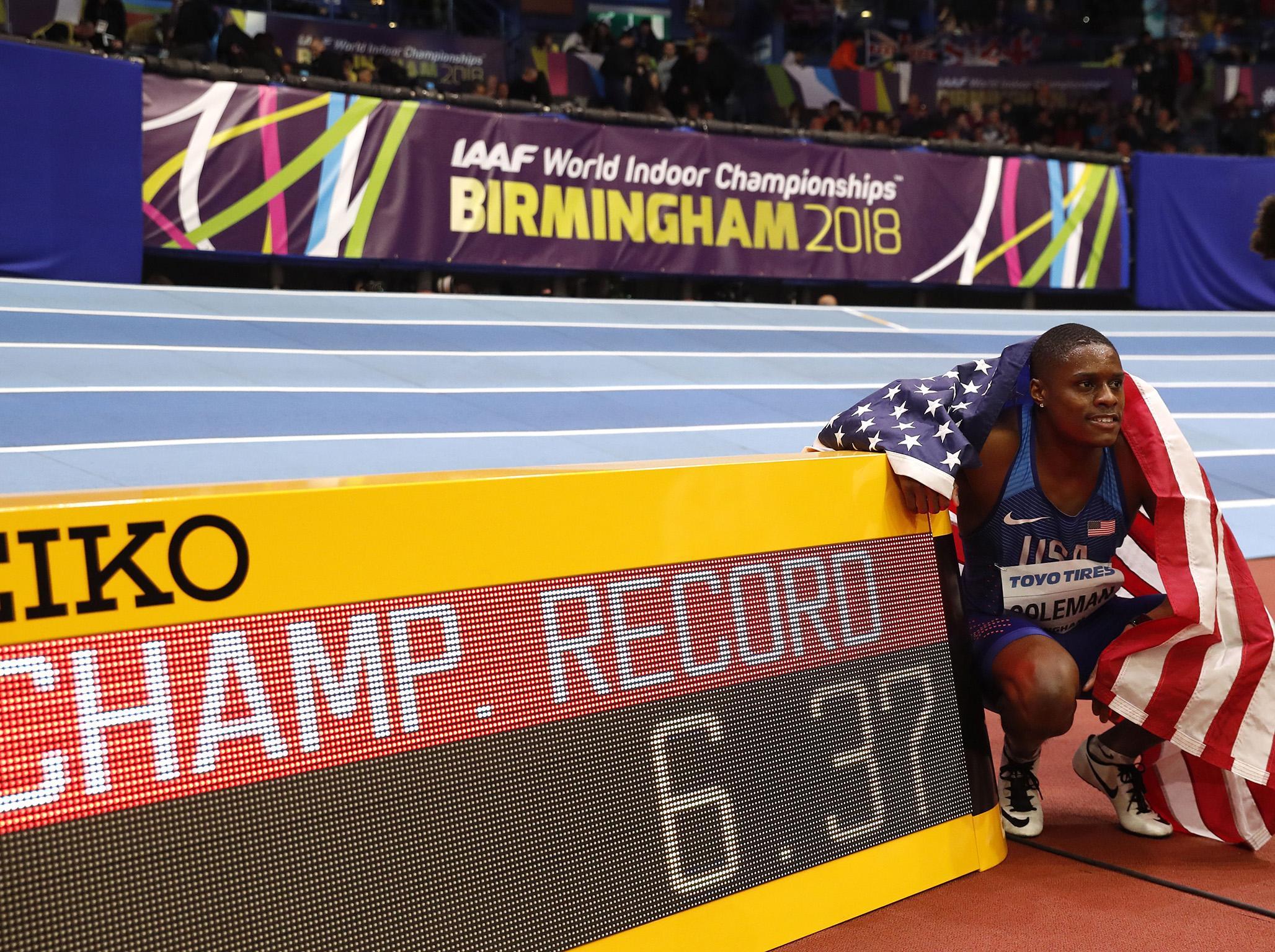 New British champion Ojie Edoburun criticises Christian Coleman after surprise 100 metres win
