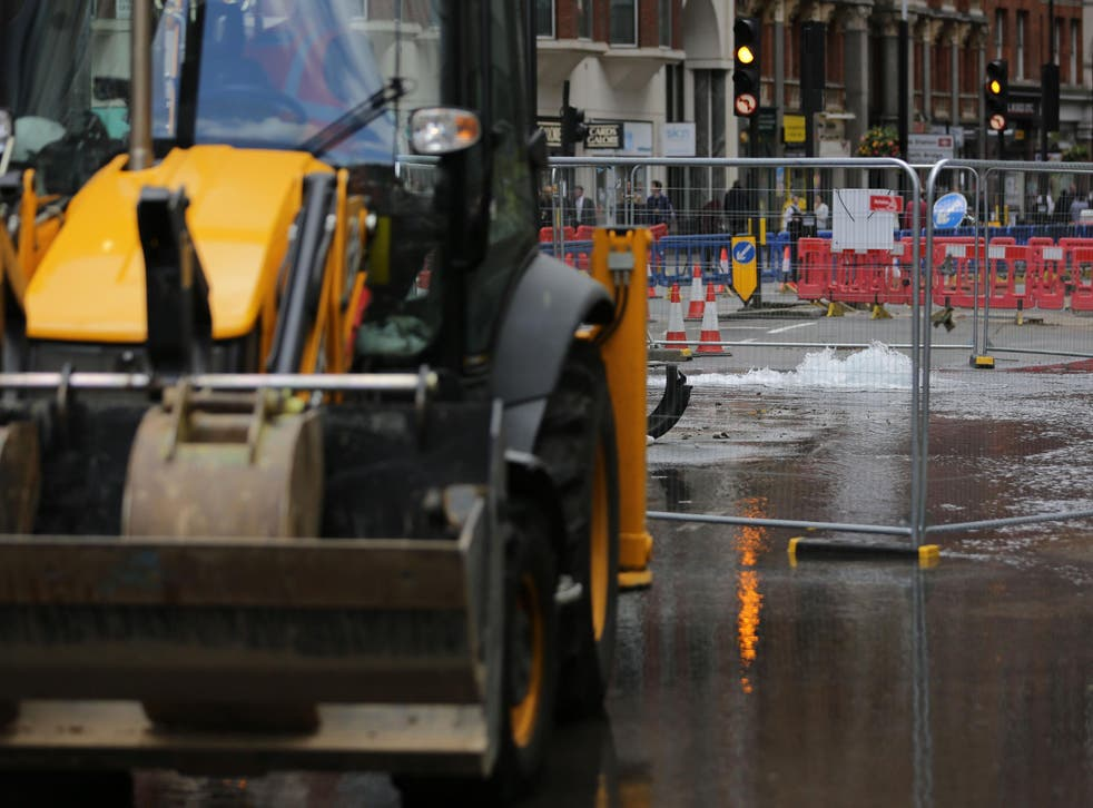 Water pipes have been bursting due to the severe weather