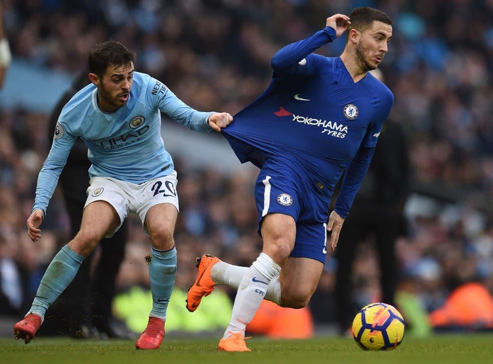 Eden Hazard cut a frustrated figure as Chelsea's false nine at the Etihad