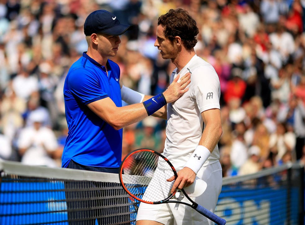 Going up, going down: Edmund has replaced Murray as the British number one
