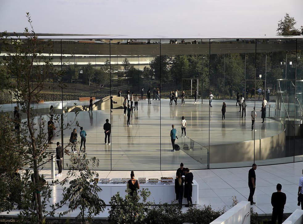 A view of the Steve Jobs Theatre at Apple Park on September 12, 2017 in Cupertino, California