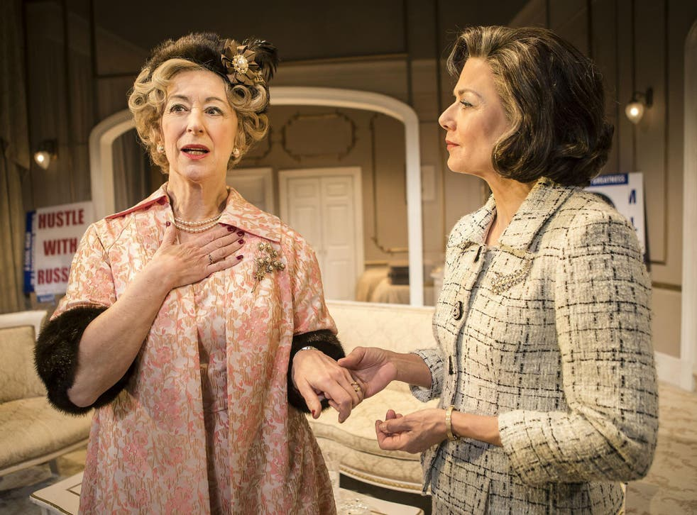 Maureen Lipman as Mrs Gamadge and Glynis Barber as Alice Russell in 'The Best Man' at Playhouse Theatre