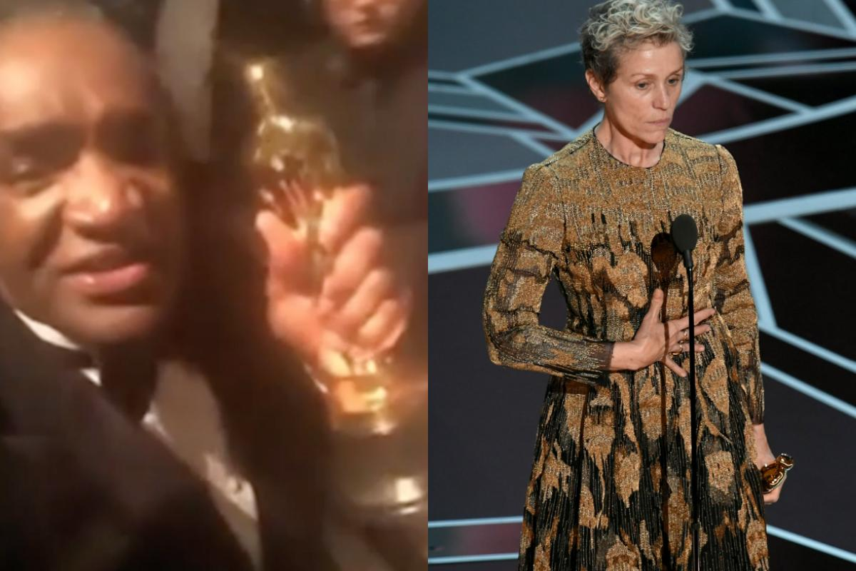Video appears to show man with Frances McDormand's stolen Oscar