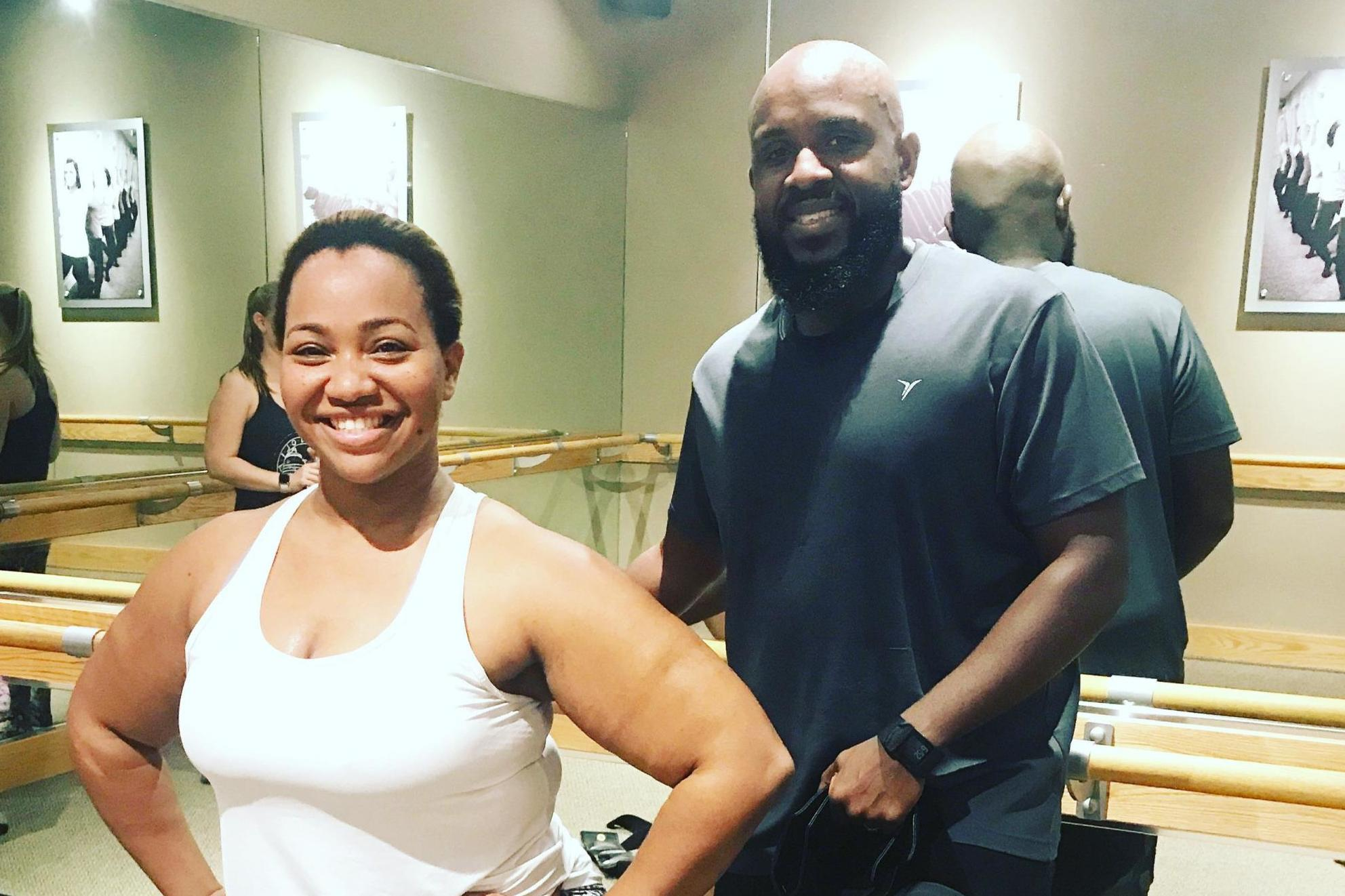 Obese couple shed 123lbs combined thanks to barre workouts
