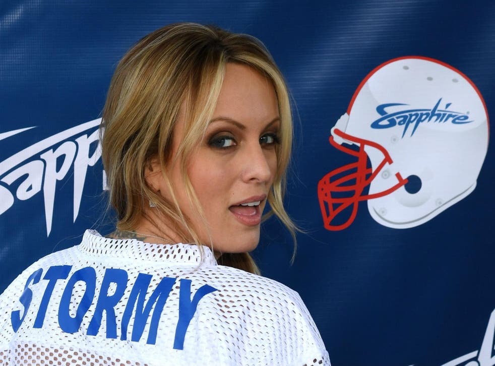Adult film star Stormy Daniels has sued President Trump and his personal lawyer, Michael Cohen