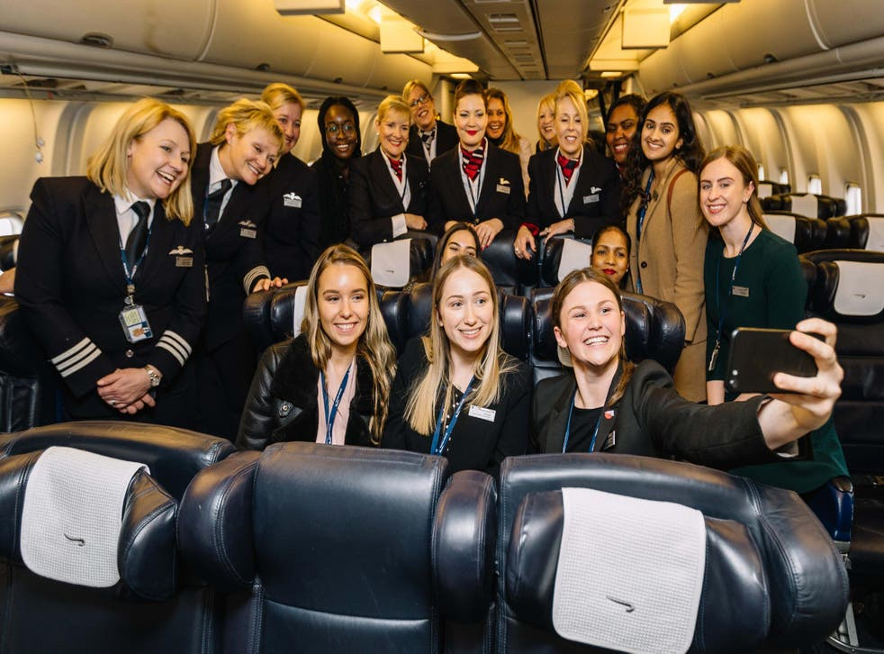 British Airways hopes the flight will inspire young women