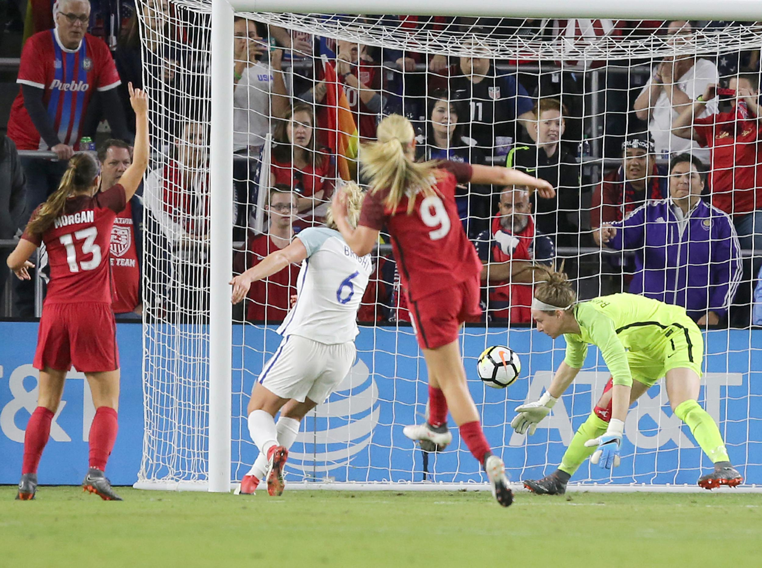 Phil Neville gets reality check as England women fall narrowly to USA in SheBelieves Cup