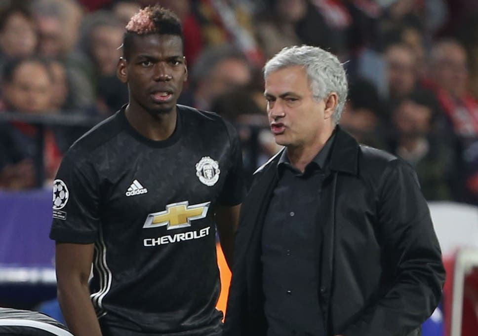 Image result for Jose Mourinho with Paul Pogba