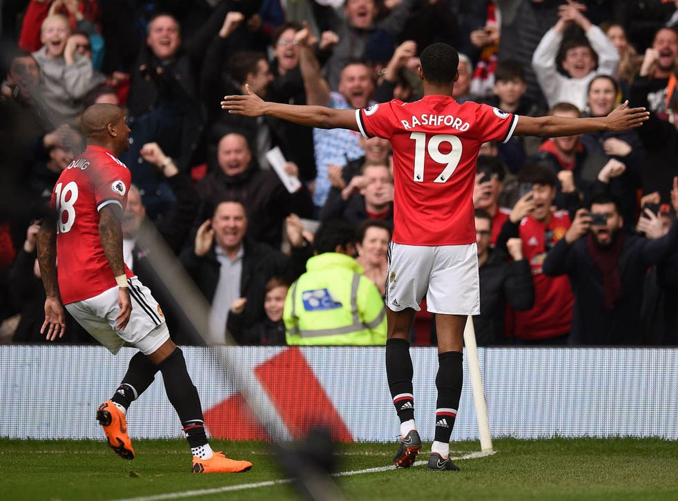 Rashford was the hero on the day with his first Premier League goals of 2018