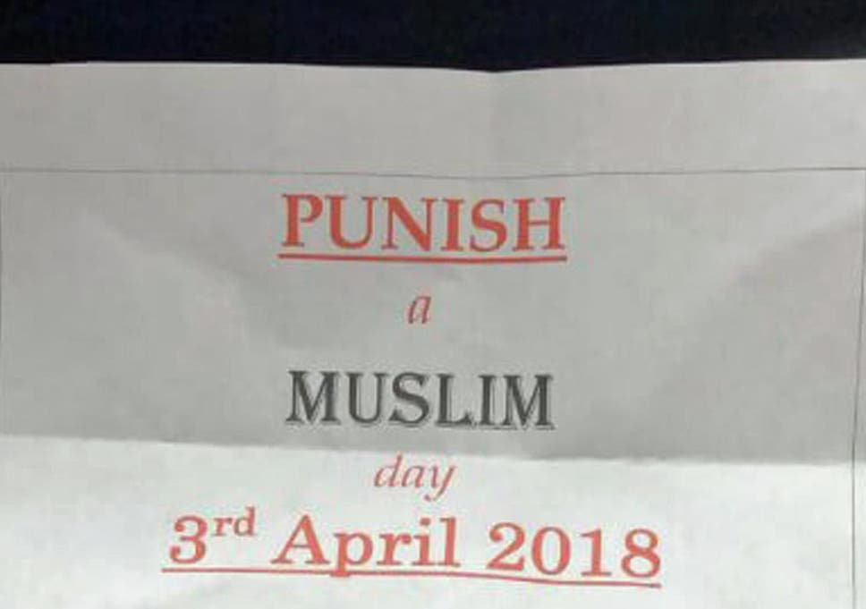 Counter-terrorism police investigating 'Punish a Muslim Day' letters