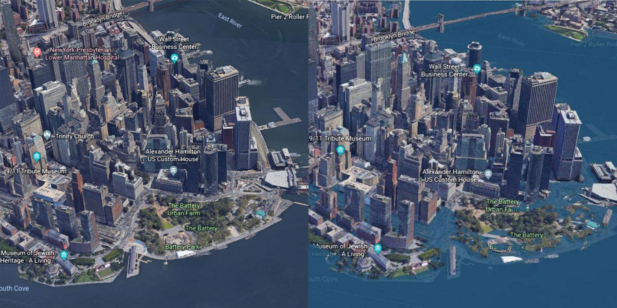 These before-and-after maps reveal how devastating climate change could be in the future