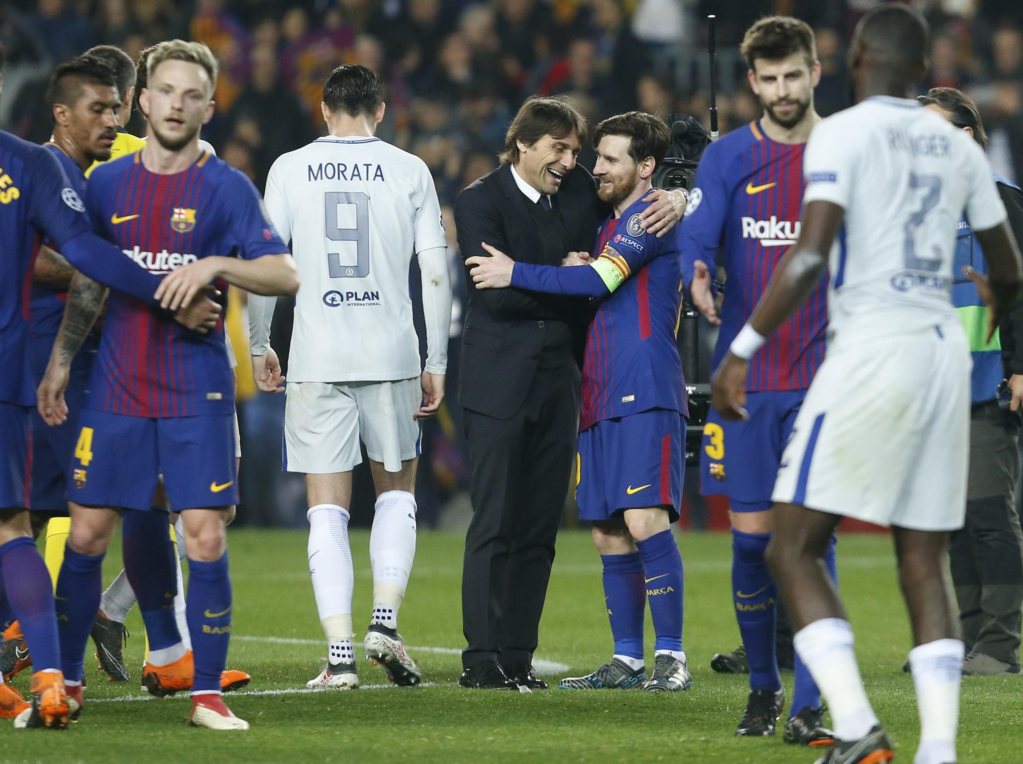 Antonio Conte says 'super, super, super top player' Lionel Messi was difference between Barcelona and Chelsea | The Independent