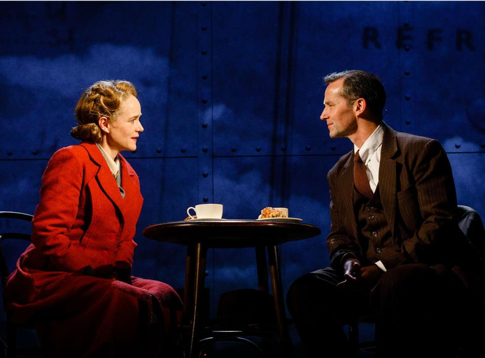 Isabel Pollen as Laura and Jim Sturgeon as her lover Alec in 'Brief Encounter' at Empire Cinema, Haymarket