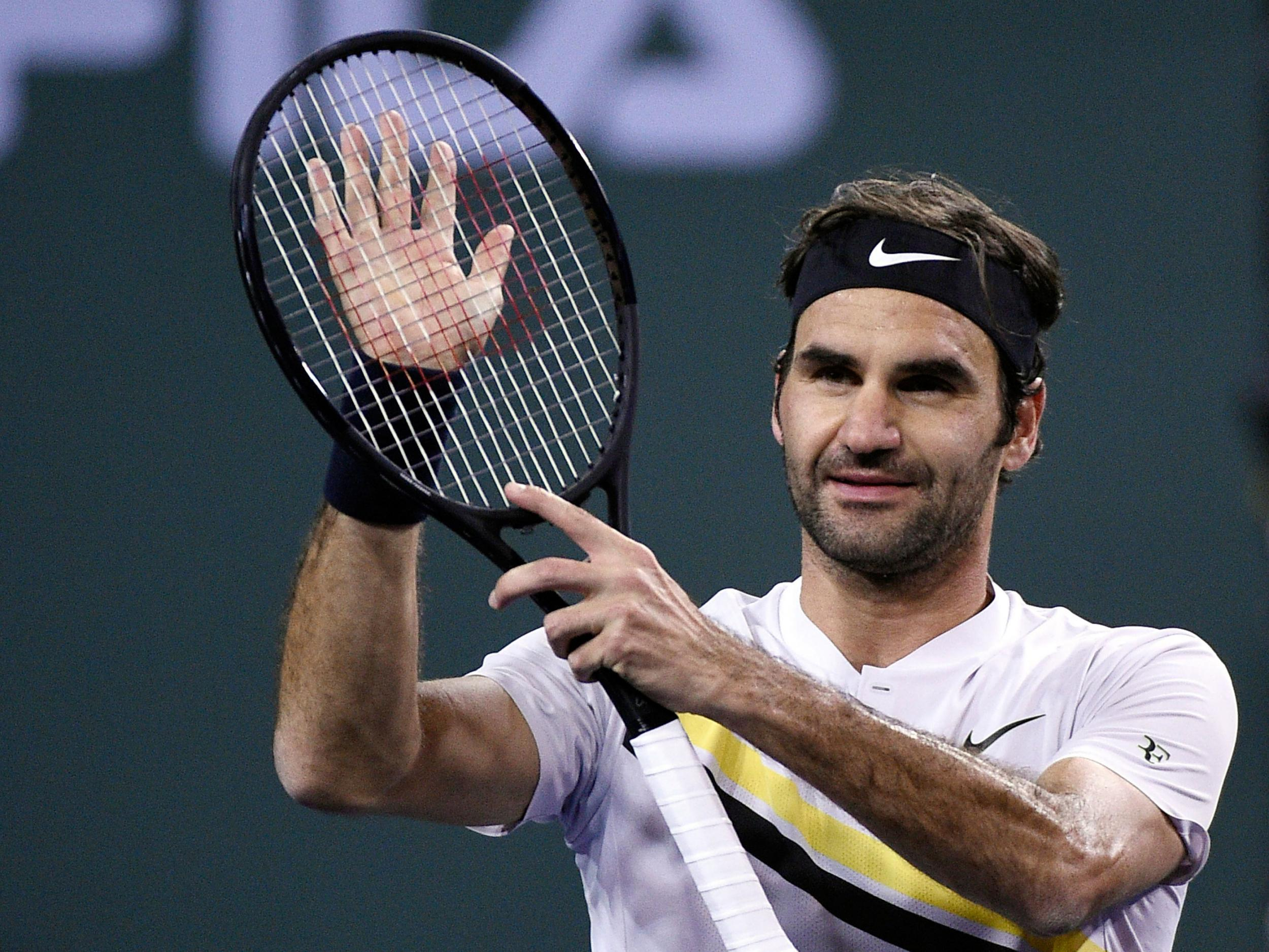 Roger federer into 11th indian wells semi final with win over hyeon roger federer into 11th indian wells semi final with win over hyeon chung the independent voltagebd Image collections
