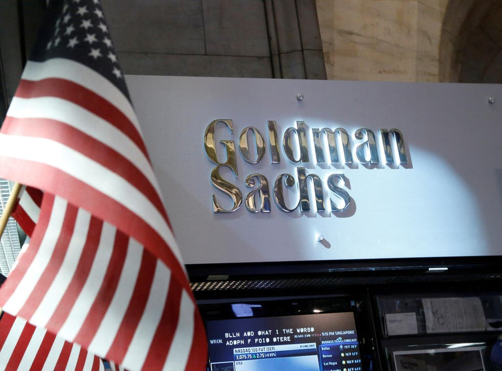 Goldman Sachs is the fifth largest US bank
