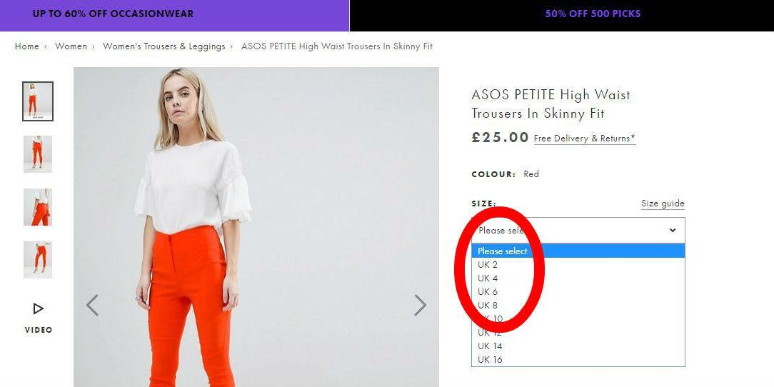 ASOS shoppers outraged at  totally irresponsible  size 2 clothing ... b3d13f7df600
